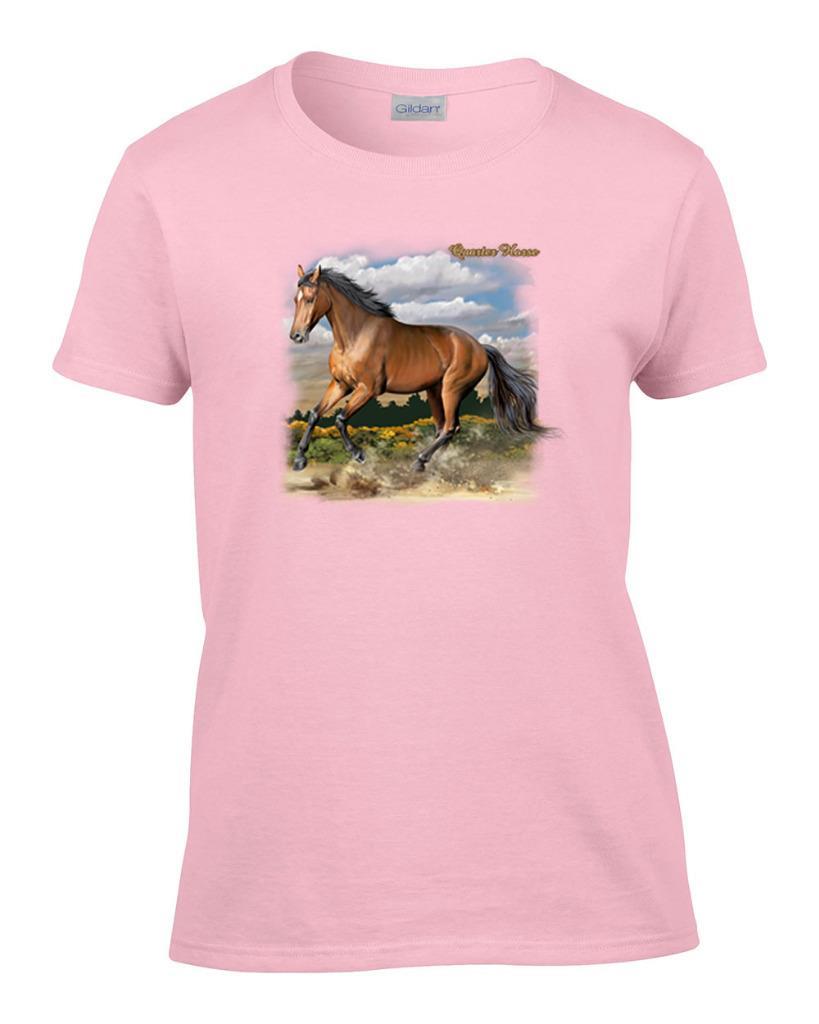 ladies quarter horse women 39 s t shirt ebay. Black Bedroom Furniture Sets. Home Design Ideas