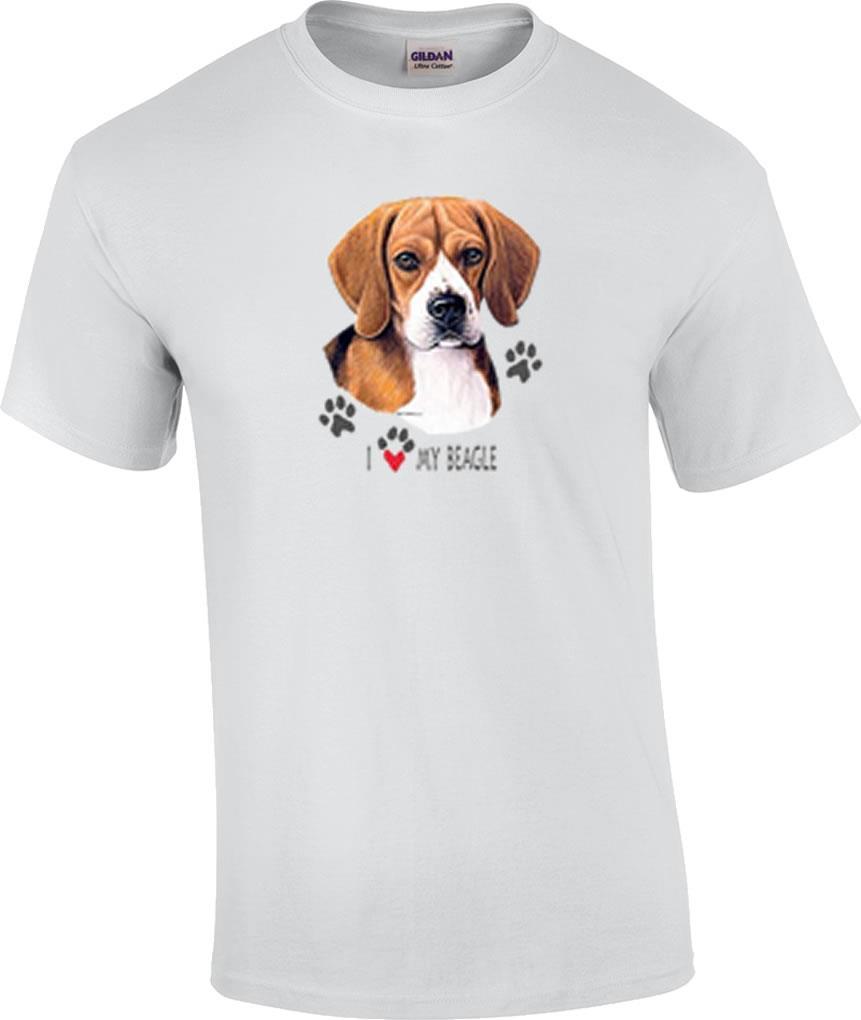 I love my beagle dog t shirt ebay for Dog t shirt for after surgery