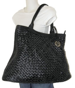 SEQUINED STYLE & CO WHITE EXTRA LARGE PVC HOBO BAG ST TROPEZ