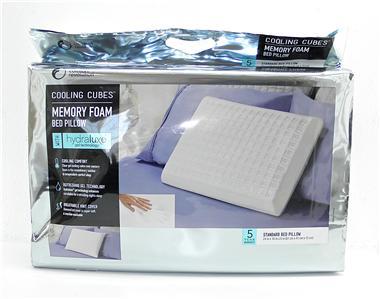 New comfort revolution cooling cubes memory foam standard for Comfort revolution 3 hydraluxe gel memory foam mattress toppers
