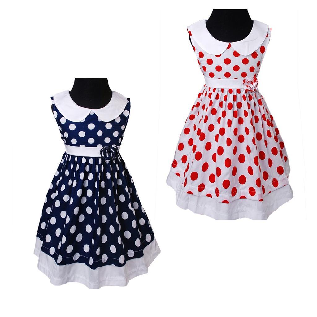 blau wei polka dots baby fr hling kragen rmelloses kleid festkleid ebay. Black Bedroom Furniture Sets. Home Design Ideas