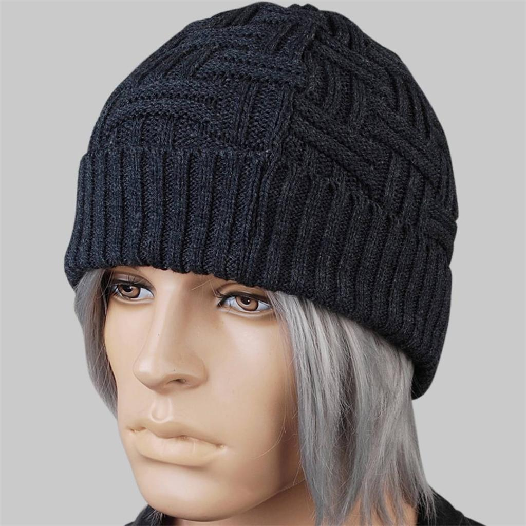schwarz dunkelgrau knit h keln baggy warm beanie m tze hat damen herren ebay. Black Bedroom Furniture Sets. Home Design Ideas