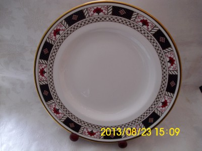 royal crown derby border pattern dinner plate 2nd quality date mark