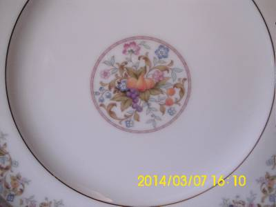 details about noritake ireland harvesting pattern dinner plate 2770