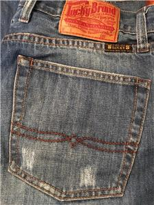 29 x 30 MENS LUCKY BRAND BLUE DENIM JEANS &amp034LUCKY YOU&amp034