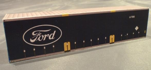 3-x-40-Foot-Shipping-containers-FORD-Curtain-Side-N-scale-Model-Railway