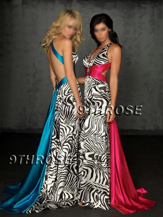 Zebra Print Evening Dresses 75