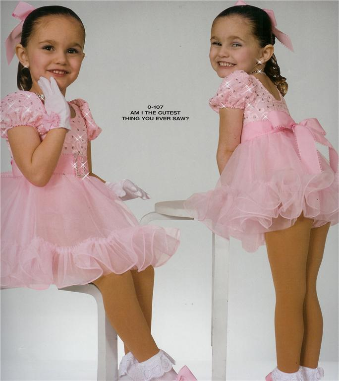 BALLET DANCE COSTUME PINK BABYDOLL DRESS FOR PAGEANT AM I