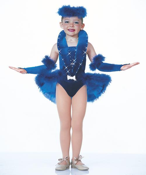 Ballet-Dance-Costume-Tap-Skate-Pageant-Blue-Christmas-Artstone-All-Grown-UP