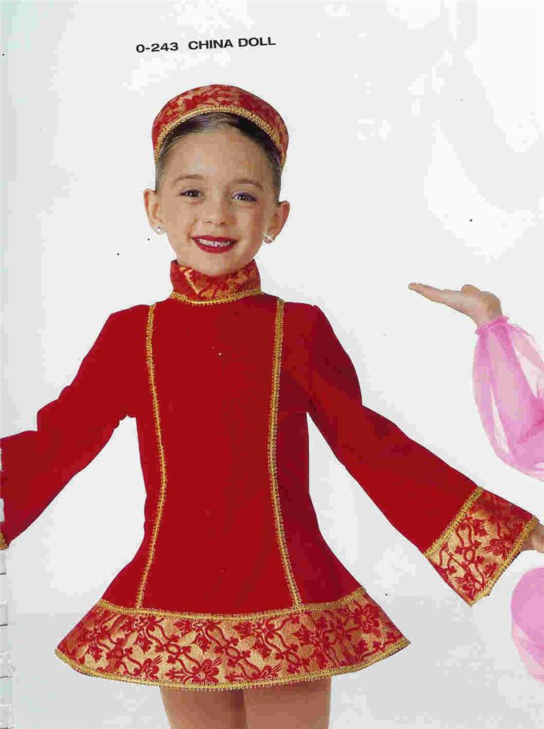 China Doll Red Chinese Christmas Nutcracker Dance Costume ...