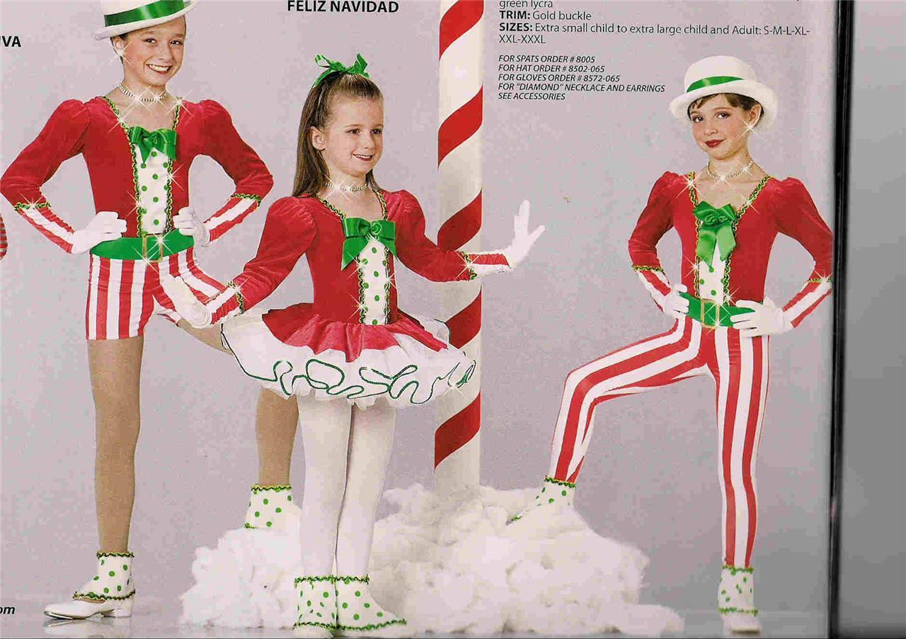 FELIZNAVIDAD225 Christmas Pageant Outfit Parade Elf Jazz Tap Dance ...