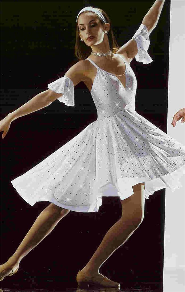 Lyrical Dance Costume Ballet Ballroom Artstone White Dress ...