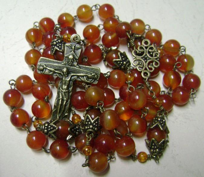 Natural Kaliningrad Amber beads Carnelian Rosary Cross | eBay