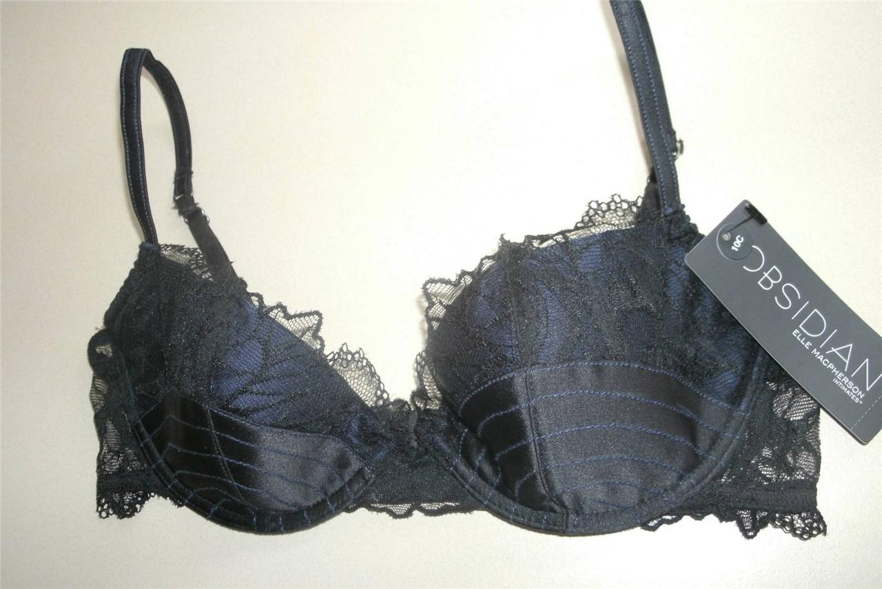 BNWT-Elle-Macpherson-Obsidian-Luna-silk-lace-bra-10C-NEW-rrp-140