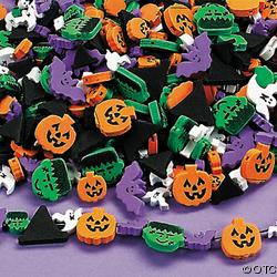 40 halloween fun foam beads child kid craft bat pumpkin ebay. Black Bedroom Furniture Sets. Home Design Ideas