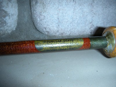 Vintage 6 39 6 actionglas tubular glass fishing rod ebay for Glass fishing rods