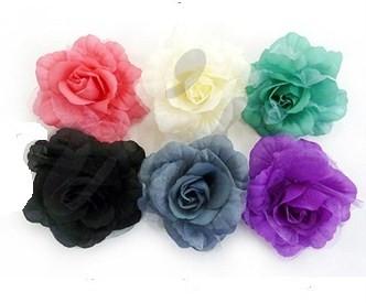 FLOWER HAIR CLIPS***ASSORTED COLORS (0607KA)