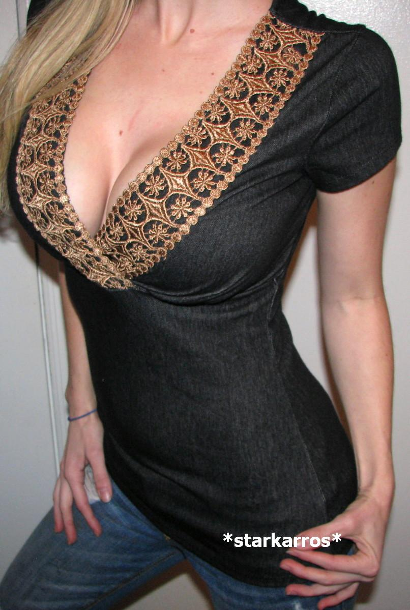 What Is A Low Cut Blouse 61