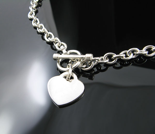 925 sterling silver 18 quot toggle necklace new nr ebay
