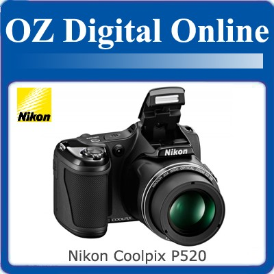 NEW-Nikon-CoolPix-P520-18MP-42x-16GB-Full-HD-Digital-Camera-1-Yr-Au-Wty