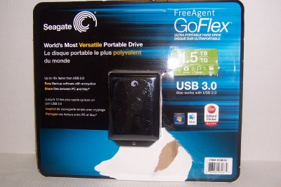 ... Seagate FreeAgent GoFlex 1.5TB USB 3.0/2.0 Ultra-Portable External H.D