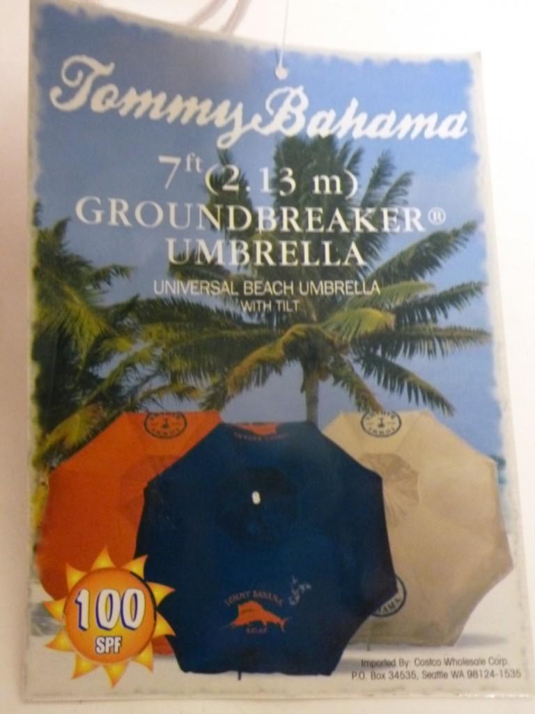 100 SPF Tommy Bahama 7ft Tilt Beach Umbrella w/ Case-RD | eBay