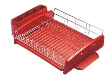 New Kitchenaid 3 Piece Dish Drying Rack Red Kat896er Ebay