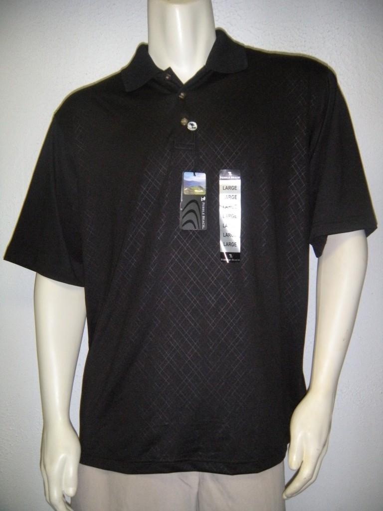 Nwt pebble beach mens medium performance polo golf shirt for Pebble beach performance golf shirt