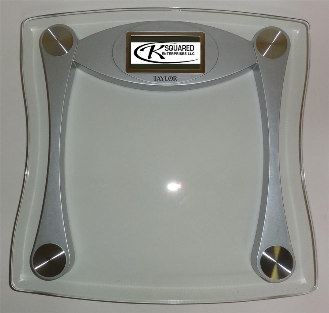 NIB Taylor Glass Digital High Capacity Bathroom Scale 7516