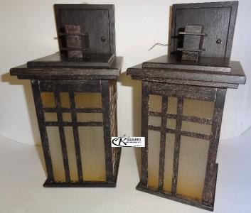 nib laurel designs outdoor wall light dark bronze coach lamp 2 pack