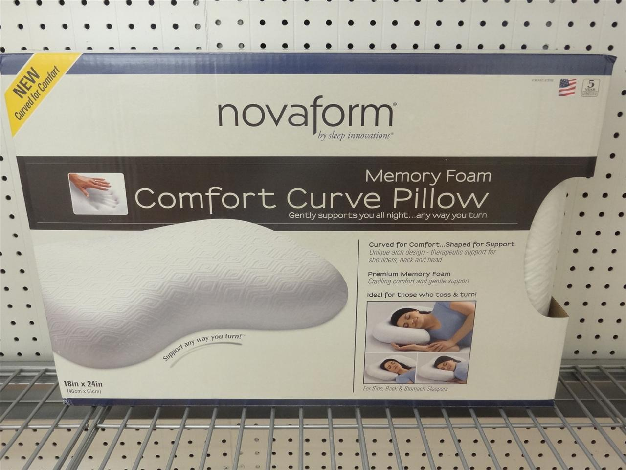 Cradling Comfort Elite Traditional Memory Foam Pillow : NEW! Novaform Memory Foam Comfort Curve Pillow 18