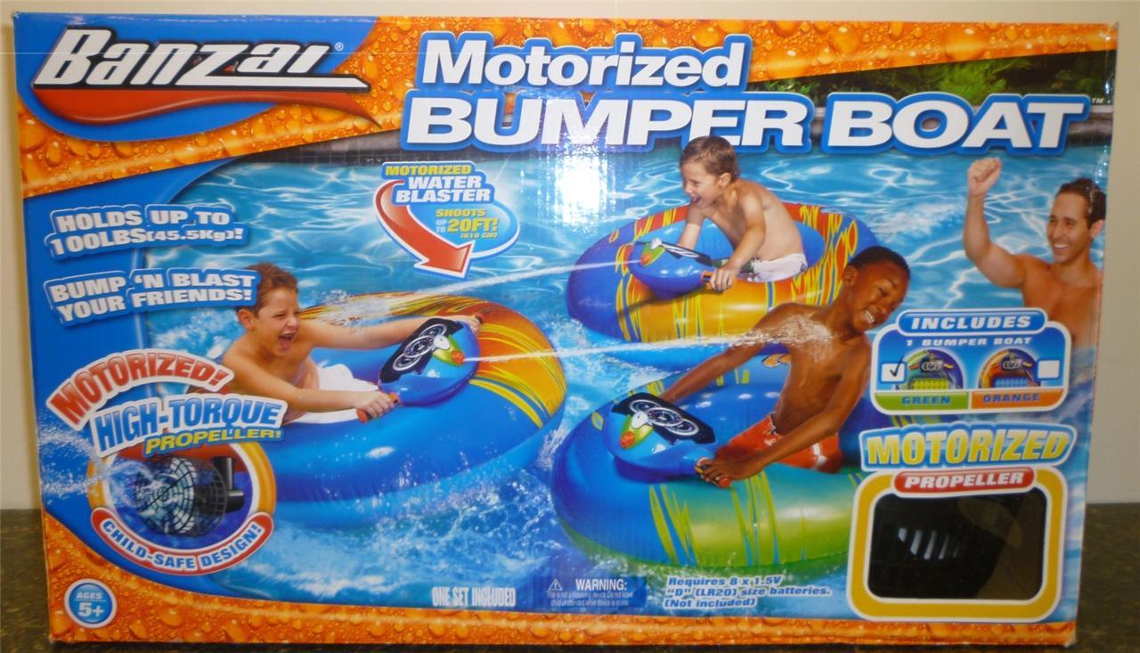 nib inflatable banzai 40 x 36 water motorized bumper