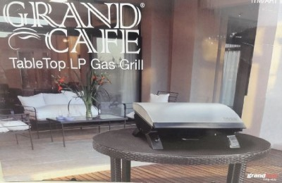 new grand cafe tabletop lp gas grill stainless steel grand hall ebay. Black Bedroom Furniture Sets. Home Design Ideas
