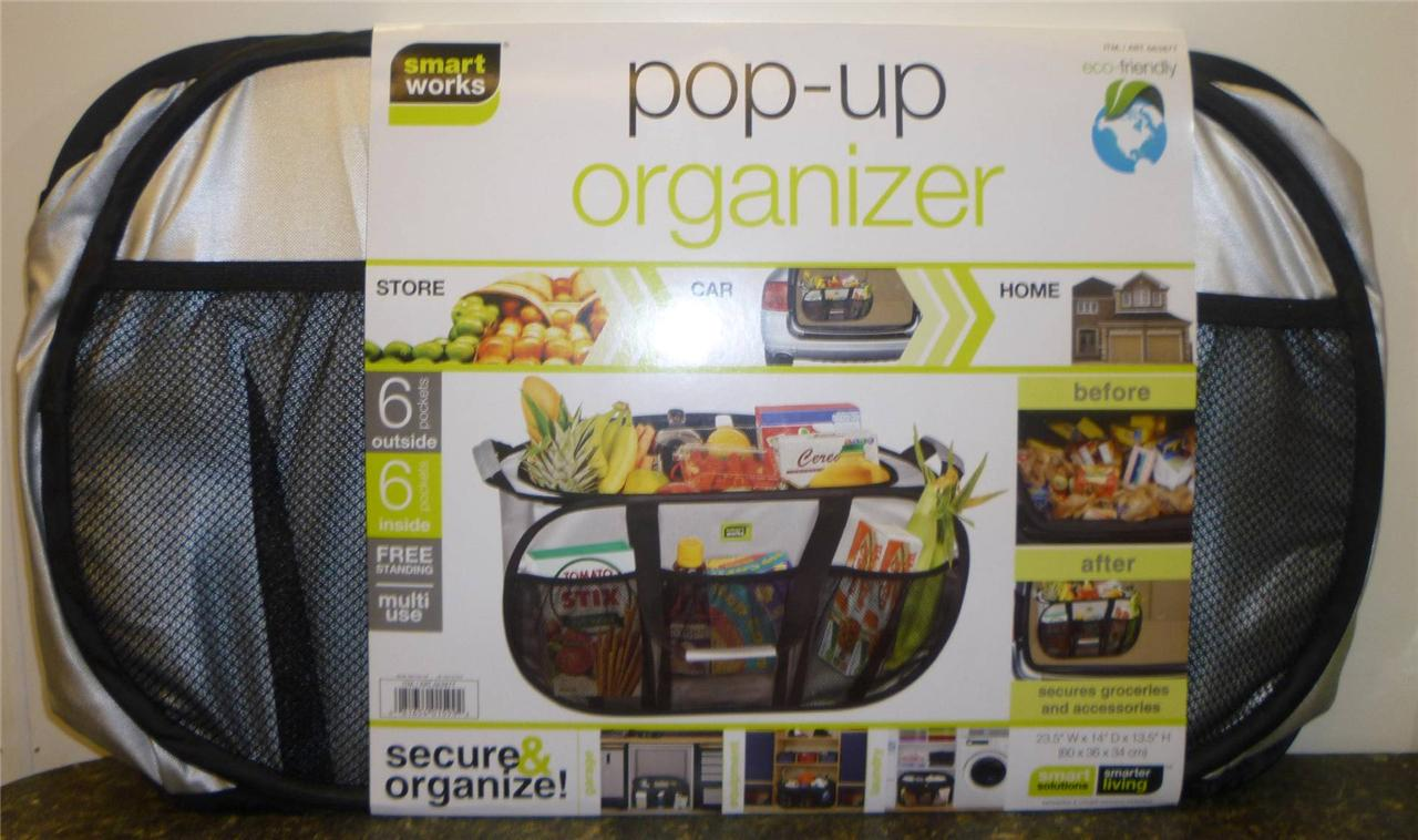 New Smart Works Pop Up Organizer Tote Great For Store