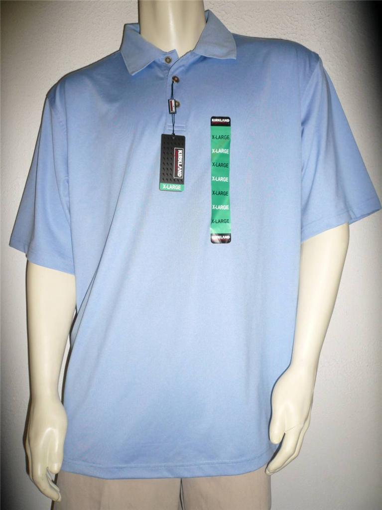 Kirkland mens performance polo golf shirt moisture wicking for Moisture wicking golf shirts
