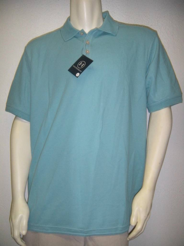 Hathaway mens classic fit polo golf shirt moisture wicking for Moisture wicking golf shirts