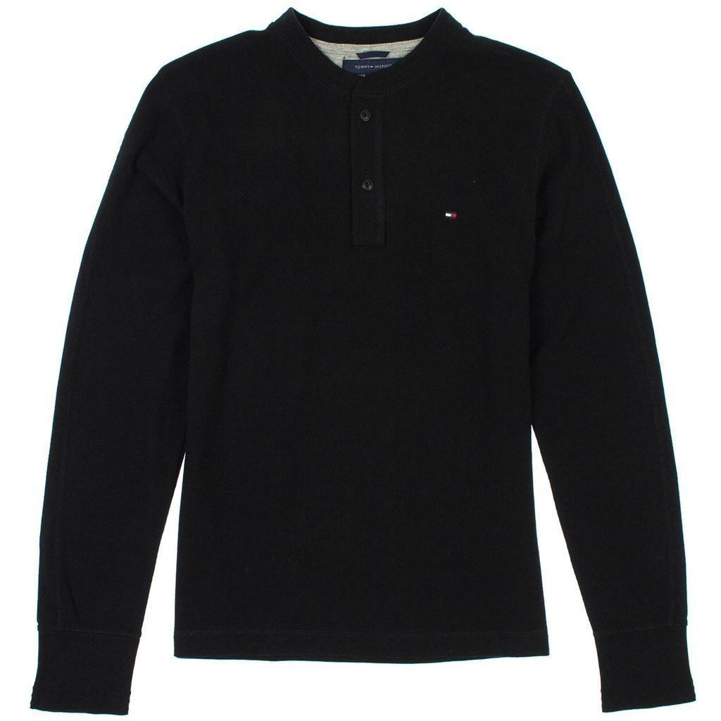 New men 39 s tommy hilfiger thermal henley long sleeve shirt for Men s thermal henley long sleeve shirts