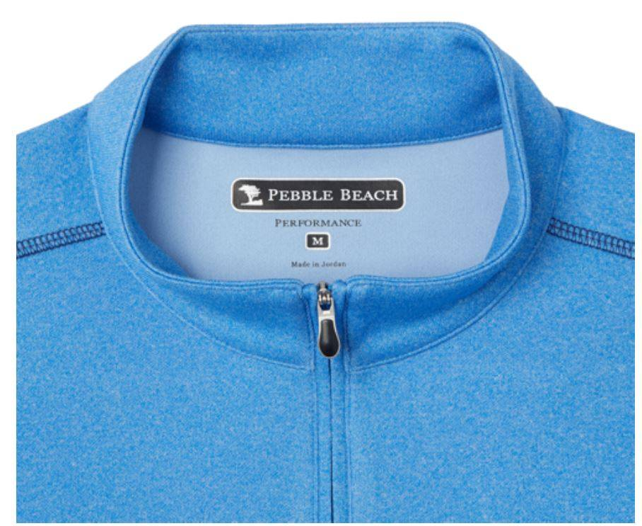 Pebble beach performance golf 1 4 zip pullover for Pebble beach performance golf shirt