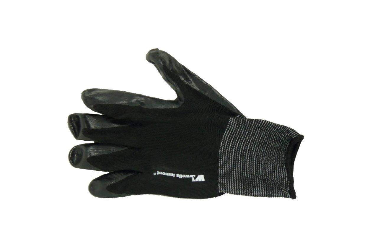 Black gardening gloves -  New Wells Lamont Mens Nitrile Coated Work Gloves Garden Gloves 12