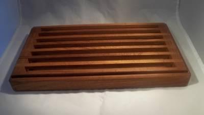 Kalmar Design Teak Wood Cutting Board Matching Tray 15 1