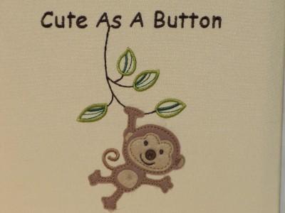 """新的""""可爱""""按钮绣花丛林猴宝宝相册~拥有200"""