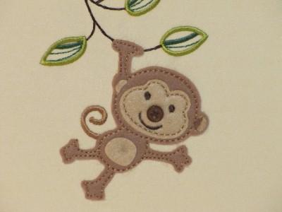 """新的""""可爱""""按钮绣花丛林猴宝宝相册~拥有200_美国ebay"""