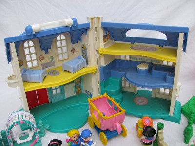 FISHER PRICE LITTLE PEOPLE DOLLHOUSE DOLL HOUSE SOUNDS ...