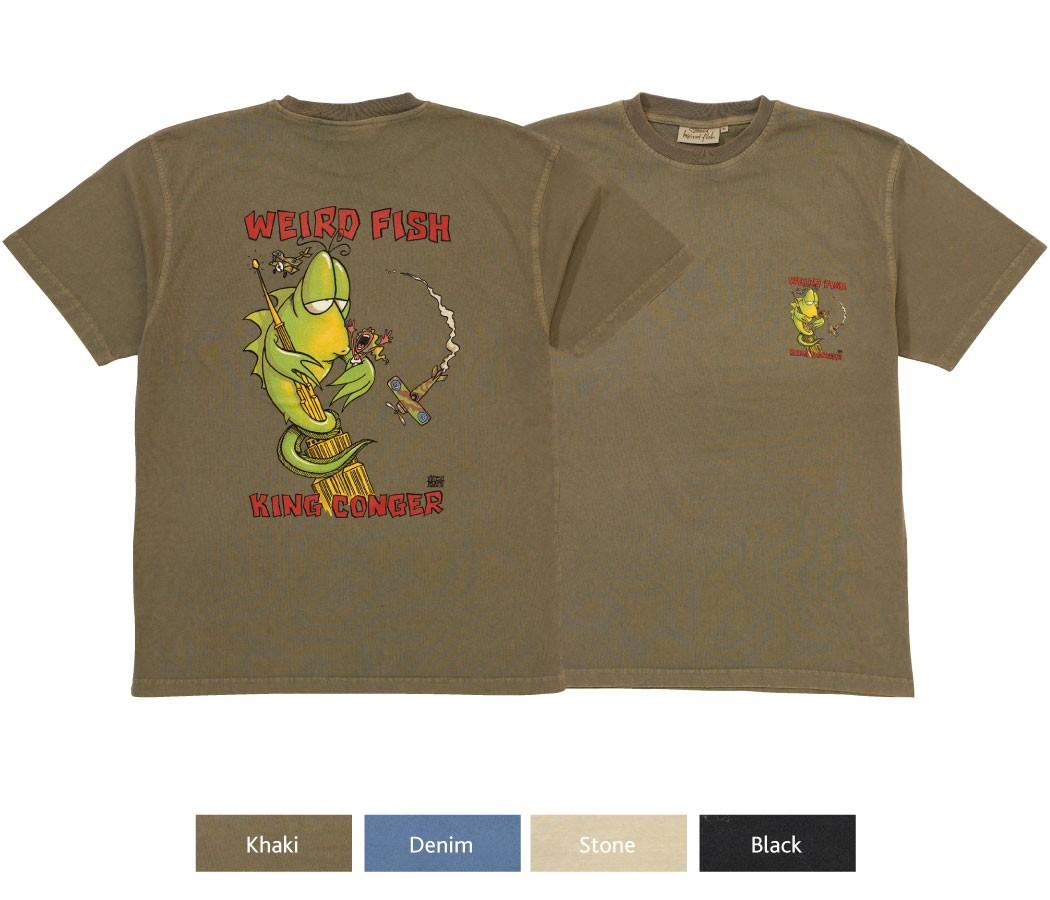 Weird fish printed t shirt king conger 39 ebay for Weird fish t shirts