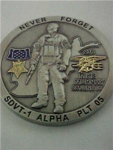 NAVY SEAL LT. MICHAEL P. MURPHY TRIBUTE CHALLENGE COIN