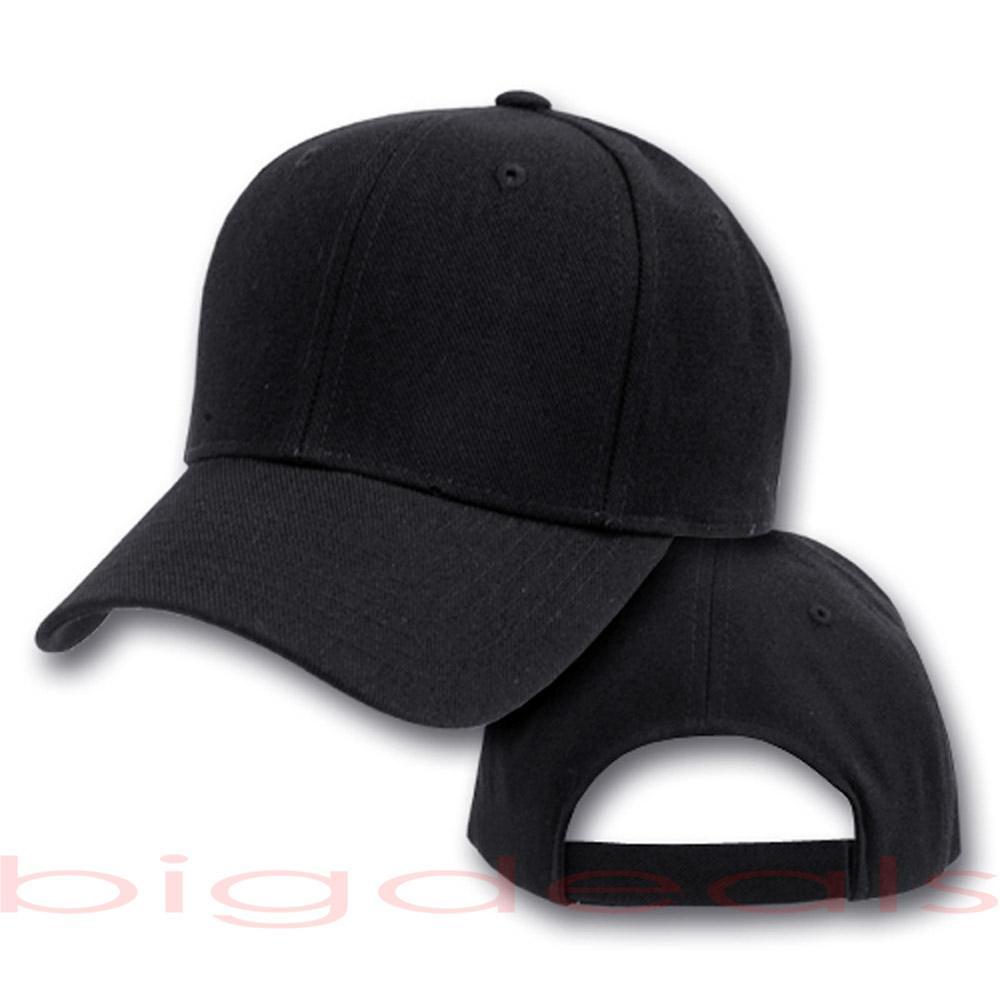 Blank Cap Plain Color Twill Six Panel 6 Solid Hat Men ...