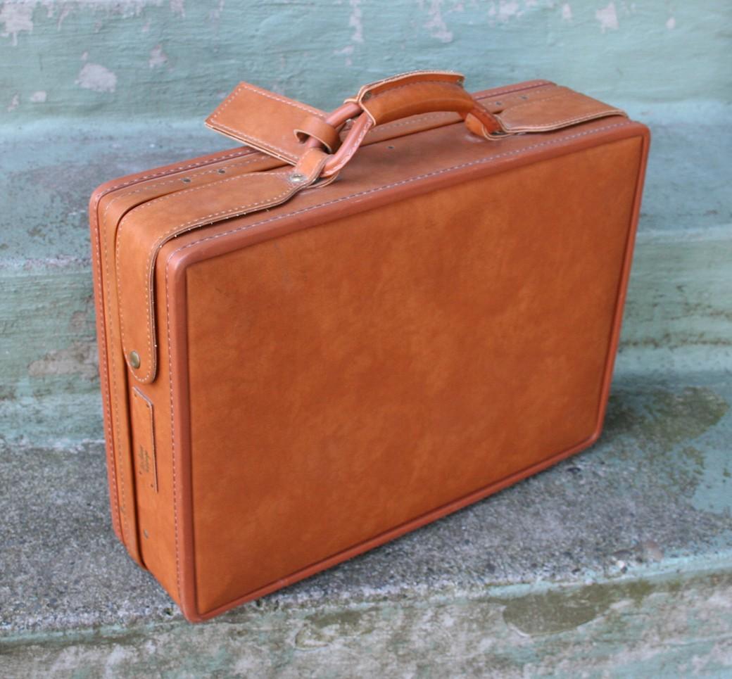 vtg hartmann belting leather attache 5 quot briefcase w key ebay