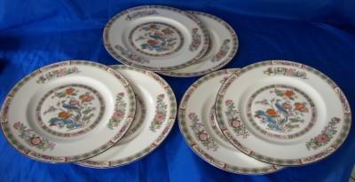 Wedgwood Kutani Crane Dinner Plates