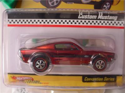 rlc 2007 hot wheels custom ford mustang red redlines. Black Bedroom Furniture Sets. Home Design Ideas