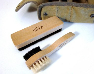 nwt rrl ralph leather boot cleaning kit w brush